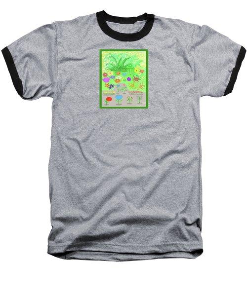 Garden Of Memories Baseball T-Shirt by Fred Jinkins