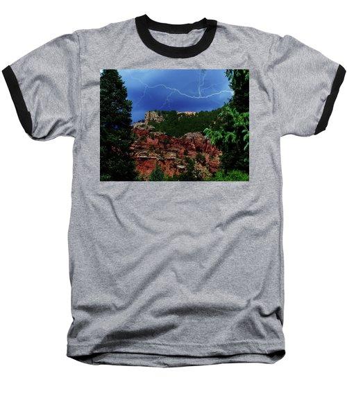 Baseball T-Shirt featuring the digital art Garden Of The Gods by Chris Flees