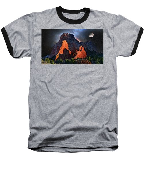 Garden Of The Gods Fantasy Art Baseball T-Shirt