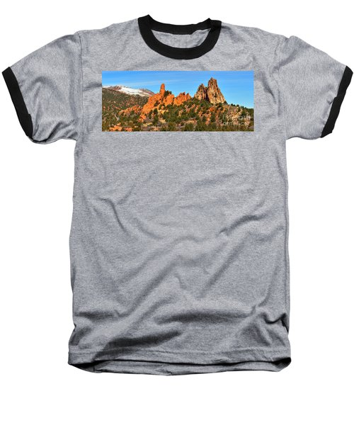 Baseball T-Shirt featuring the photograph Garden Of The Gods High Point Panorama by Adam Jewell