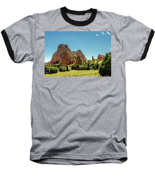 Baseball T-Shirt featuring the photograph Garden Of The Gods II by Bill Gallagher