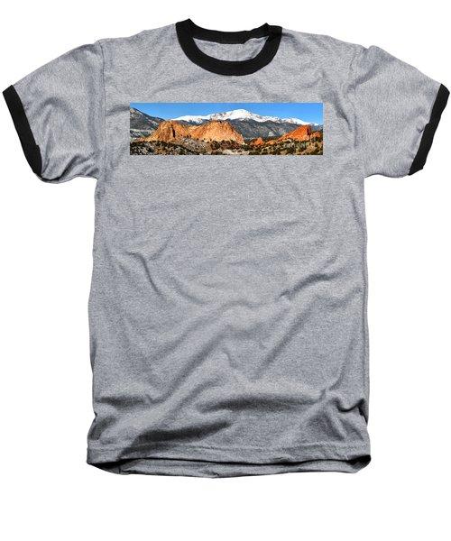 Baseball T-Shirt featuring the photograph Garden Of The Gods Medium Panorama by Adam Jewell