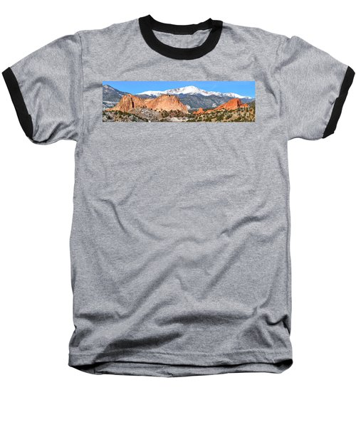 Baseball T-Shirt featuring the photograph Garden Of The Gods Panorama by Adam Jewell