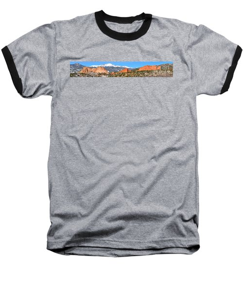 Baseball T-Shirt featuring the photograph Garden Of The Gods Spring Panorama by Adam Jewell