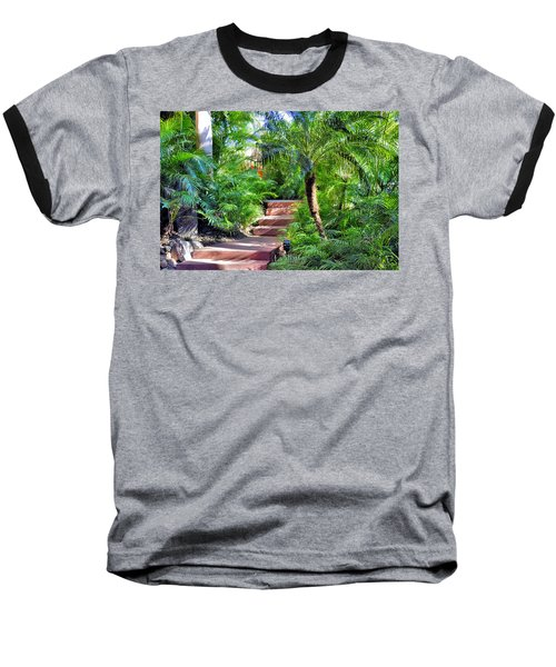 Garden Path Baseball T-Shirt by Jim Walls PhotoArtist