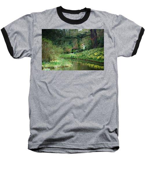 Garden Pond Baseball T-Shirt by Carol Crisafi