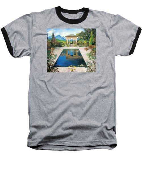 Garden Reflection Pool Baseball T-Shirt