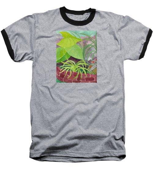 Garden Scene 9-21-10 Baseball T-Shirt by Fred Jinkins