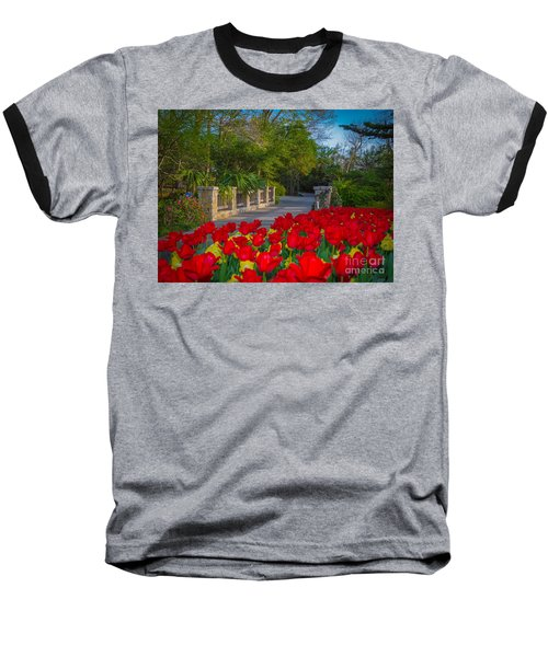 Garden Tulips Along The Trail Baseball T-Shirt