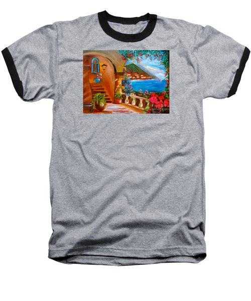 Garden Veranda 1 Baseball T-Shirt by Jenny Lee