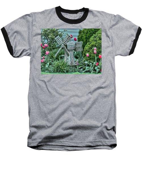 Garden Windmill Baseball T-Shirt