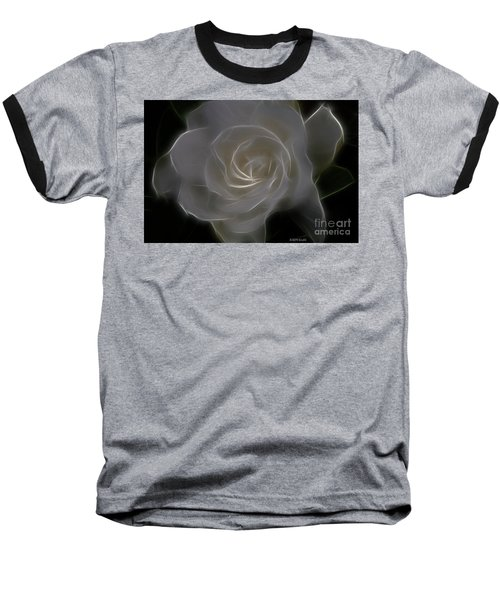 Gardenia Blossom Baseball T-Shirt by Deborah Benoit