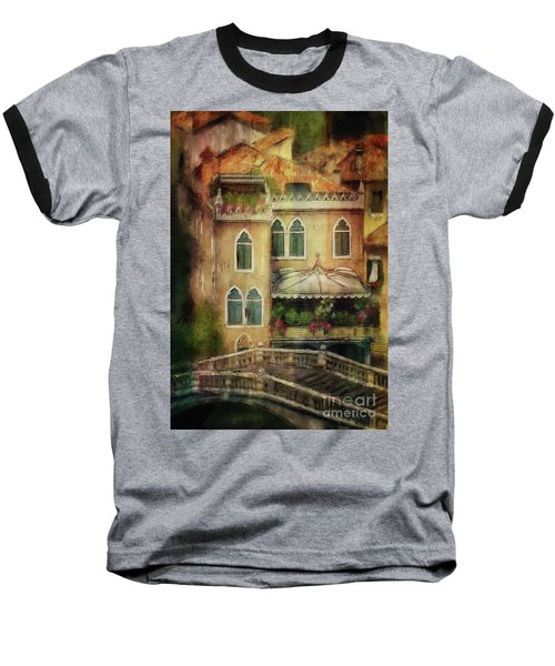 Baseball T-Shirt featuring the digital art Gardening Venice Style by Lois Bryan