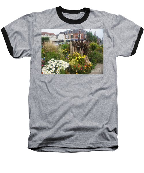 Baseball T-Shirt featuring the photograph Gardens At Albert Train Station In France by Therese Alcorn
