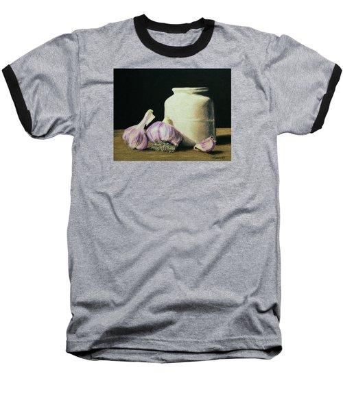 Garlic Crock Baseball T-Shirt by Marna Edwards Flavell