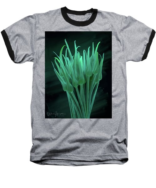 Garlic Scapes 01 Baseball T-Shirt by Wally Hampton