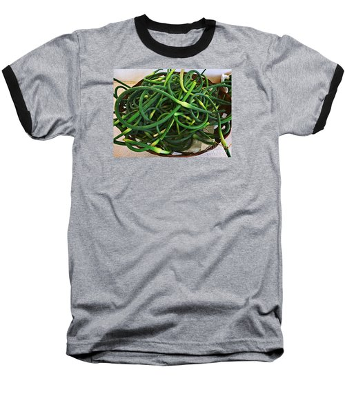Garlic Stems Baseball T-Shirt by Dee Flouton
