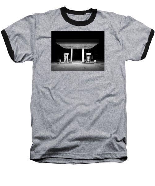Gas At Night Baseball T-Shirt by John Rossman