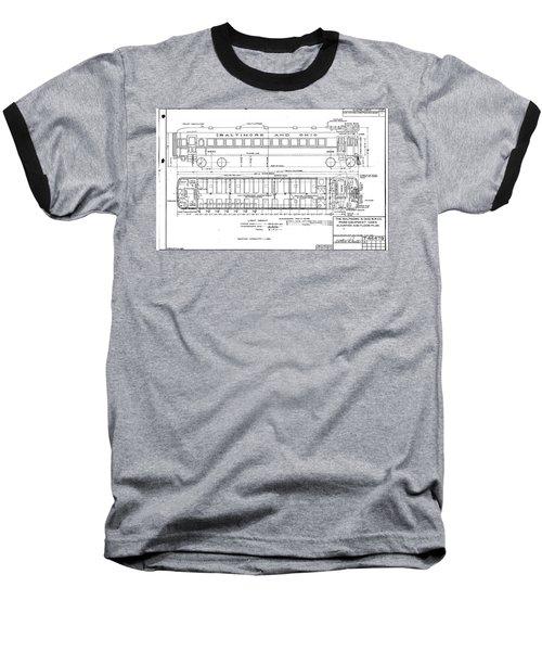 Gas Electric Car Diagram Baseball T-Shirt