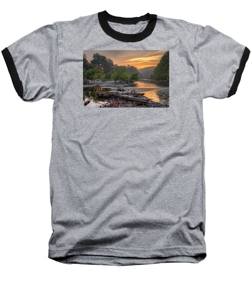 Gasconade River Baseball T-Shirt by Robert Charity