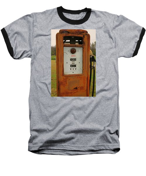Gasoline Pump Baseball T-Shirt by Ronald Olivier