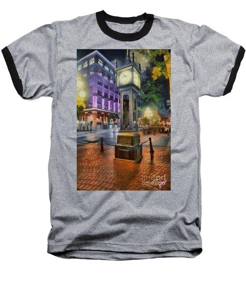 Baseball T-Shirt featuring the digital art Gastown Sreamclock 1 by Jim  Hatch