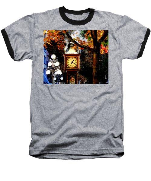 Gastown Steam Clock Baseball T-Shirt