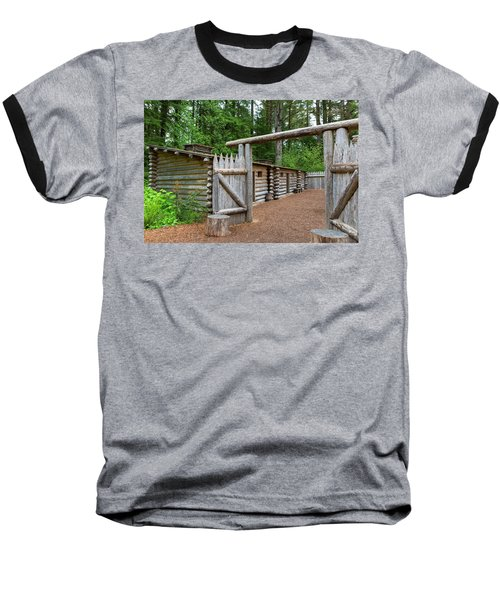 Gate To Log Camp At Fort Clatsop Baseball T-Shirt
