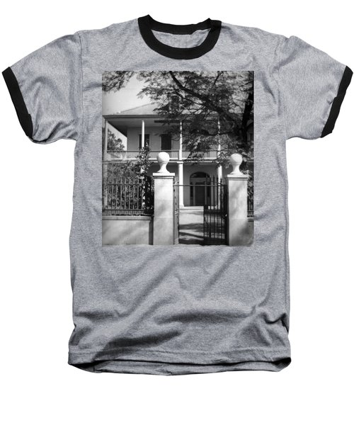 Gated Colonial Home Baseball T-Shirt