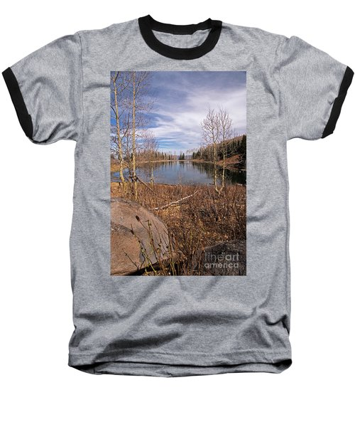 Gates Lake Ut Baseball T-Shirt by Cindy Murphy - NightVisions