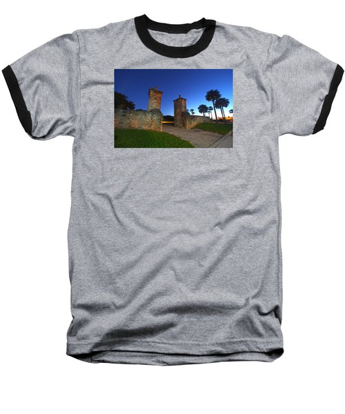 Gates Of The City Baseball T-Shirt by Robert Och