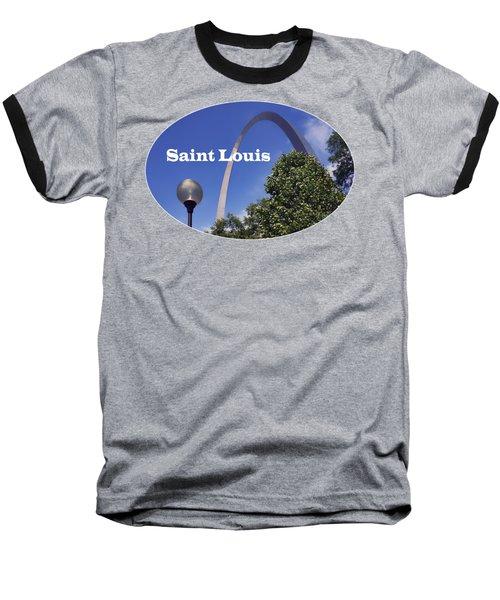 Gateway Arch - Saint Louis - Transparent Baseball T-Shirt by Nikolyn McDonald