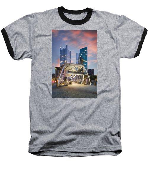Gateway Station At Pittsburgh  Baseball T-Shirt by Emmanuel Panagiotakis
