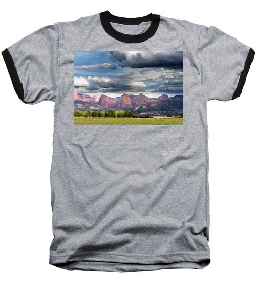 Gathering Storm Over The Fingers Of Kolob Baseball T-Shirt