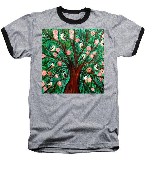 Gathering The Family Baseball T-Shirt by Lisa Aerts