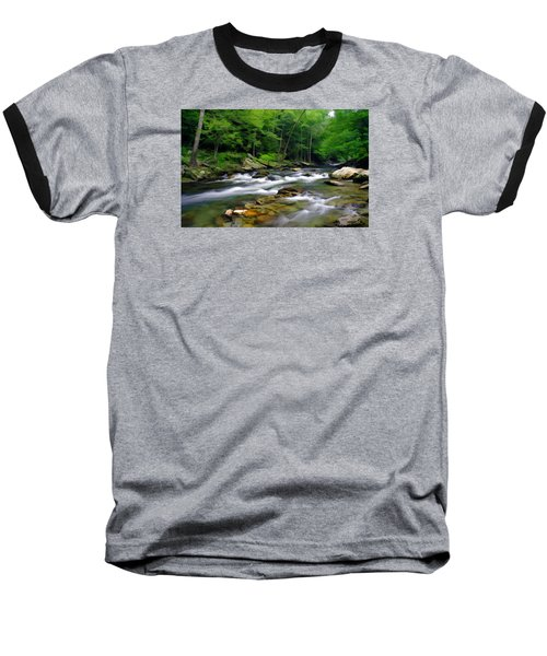 Gatlinburg Stream Baseball T-Shirt