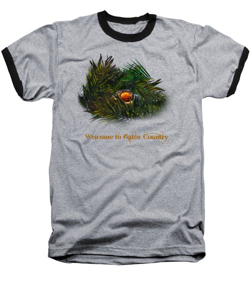 Baseball T-Shirt featuring the photograph Gator Country  by Mark Andrew Thomas