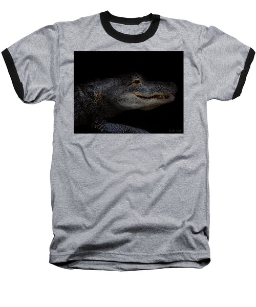 Gator In Black Baseball T-Shirt