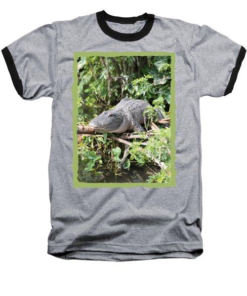 Gator In Green Baseball T-Shirt