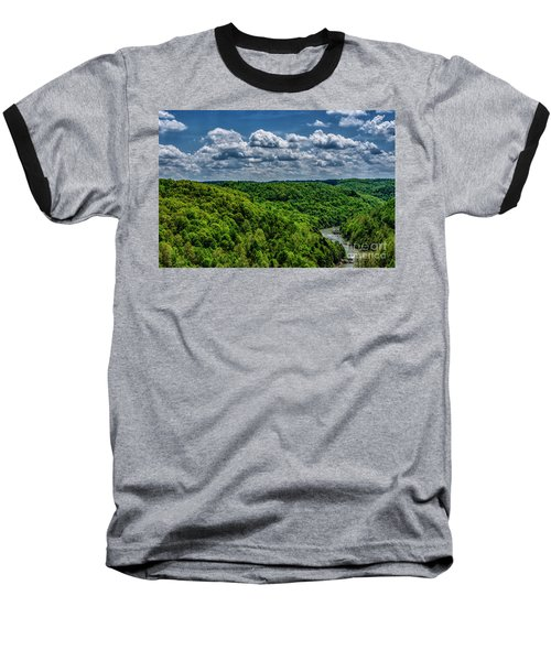 Gauley River Canyon And Clouds Baseball T-Shirt