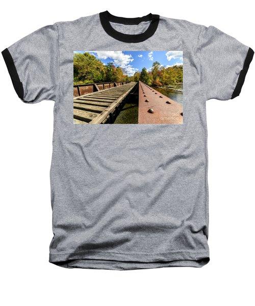Gauley River Railroad Trestle Baseball T-Shirt