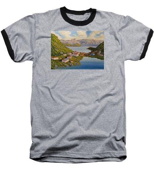 Gaultois Village Newfoundland Baseball T-Shirt