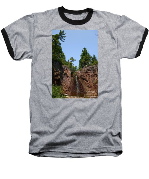 Baseball T-Shirt featuring the photograph Gauthier Falls In Late August by Sandra Updyke