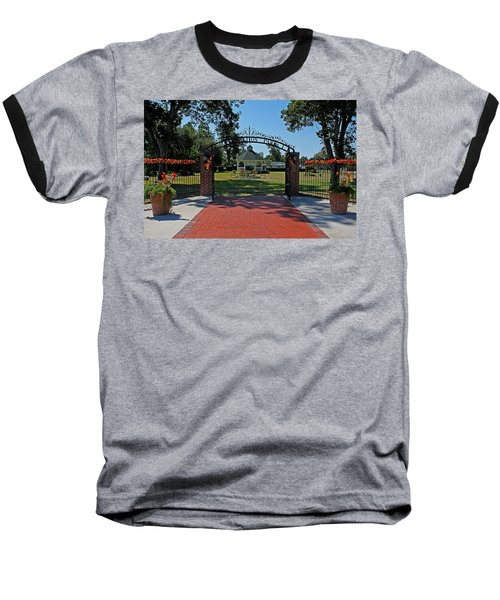 Baseball T-Shirt featuring the photograph Gazebo At Celebration Park by Judy Vincent