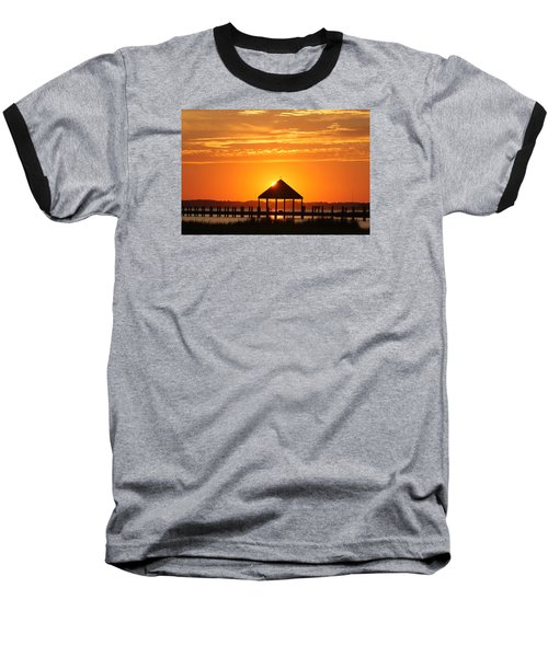 Gazebo Sunset Baseball T-Shirt