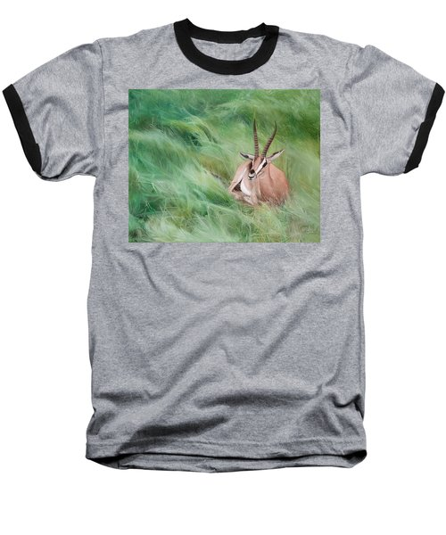 Gazelle In The Grass Baseball T-Shirt