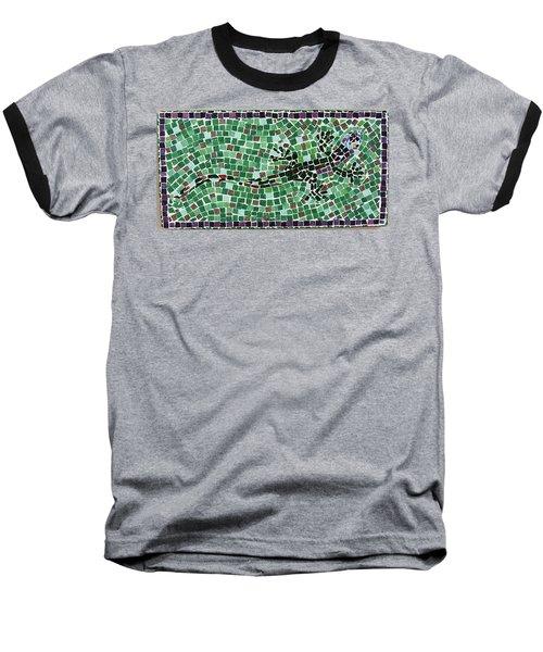 Baseball T-Shirt featuring the ceramic art Gecko by Jamie Frier