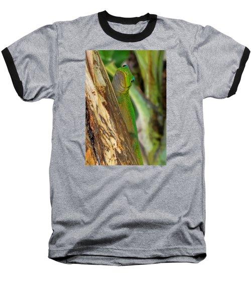 Gecko Up Close Baseball T-Shirt