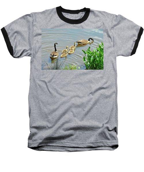 Geese And Goslings Baseball T-Shirt