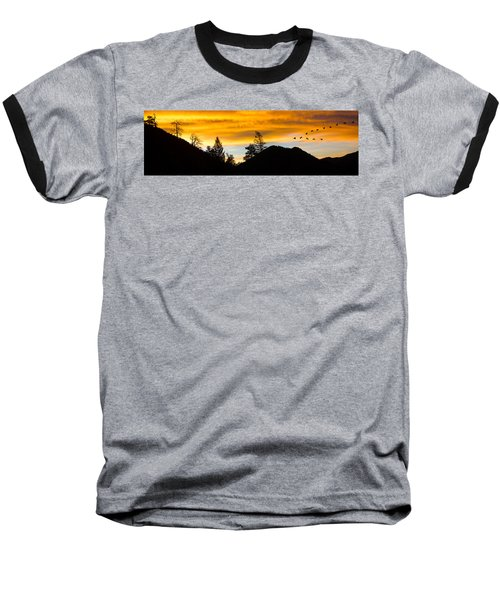 Geese At Sunrise Baseball T-Shirt